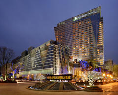 The InterContinental Century City Chengdu hotel stands in Chengdu, Sichuan province, China.