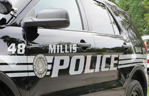 Undated file photo of a MIllis, Massachusetts Police car