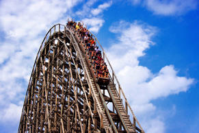 Roller coaster at New Jersey's Six Flags. John Greim/LightRocket via Getty Image...