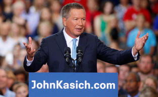 Republican U.S. presidential candidate and Ohio Governor John Kasich formally announces his campaign for the 2016 Republican presidential nomination during a kickoff rally in Columbus, Ohio July 21, 2015.