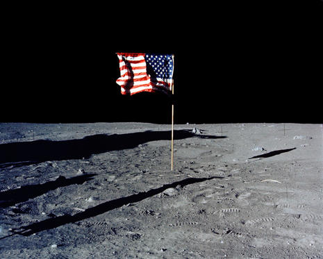 30Th Anniversary Of Apollo 11 Landing On The Moon(15 Of 20): The Flag Of The United States Stands Alone On The Surface Of The Moon. (Photo By Nasa/Getty Images)