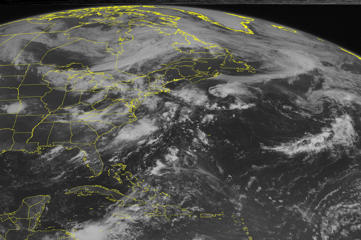 This NOAA satellite image taken July 14 shows Tropical Storm Claudette