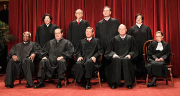 In this Oct. 8, 2010, file photo, justices of the U.S. Supreme Court gather for ...