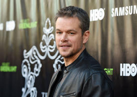 LOS ANGELES, CA - AUGUST 10: Actor Matt Damon attends the Project Greenlight Season 4 Winning Film premiere 'The Leisure Class' presented by Matt Damon, Ben Affleck, Adaptive Studios and HBO at The Theatre at Ace Hotel on August 10, 2015 in Los Angeles, California. (Photo by Angela Weiss/Getty Images)
