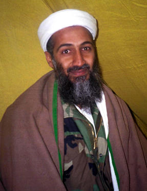 394268 01: (FRANCE OUT) Arab militant Osama Bin Laden poses for this undated photo. A US official and experts have identified Bin Laden as the possible mastermind in the September 11, 2001 attacks on the World Trade Center and Pentagon in the United States. (Photo by Getty Images)