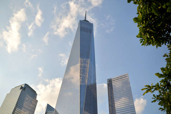A view of the One World Trade Centre in New York