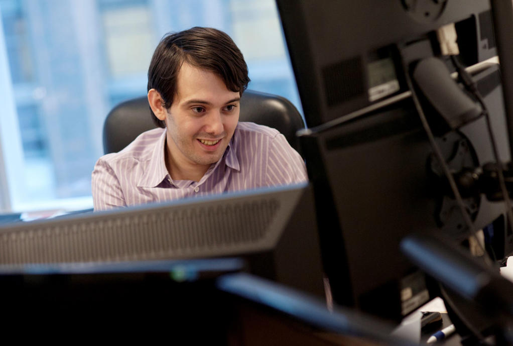 "<span style=""font-size:13px;"">Martin Shkreli at his office in New York. The price of the drug Daraprim, which treats a dangerous parasitic infection were raised from $13.50 per pill to $750 per pill.</span>"