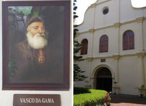 Portuguese Vasco de Gama first rounded Africa to reach India. The oldest Christian church in India still stands.