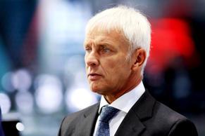 Matthias Mueller, chief executive officer of Porsche AG, pauses during a Bloomberg Television interview during previews to IAA Frankfurt Motor Show in Frankfurt, Germany, on Tuesday, Sept. 15, 2015.
