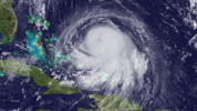 In this handout from the National Oceanic and Atmospheric Administration (NOAA), Hurricane Joaquin is seen churning in the Caribbean September 30, 2015.