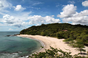 A general view of Guacalito de la Isla beach is seen at Nicaragua's Pacific coast.