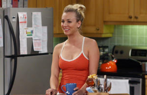 Como Penny en la serie 'The Big Bang Theory'