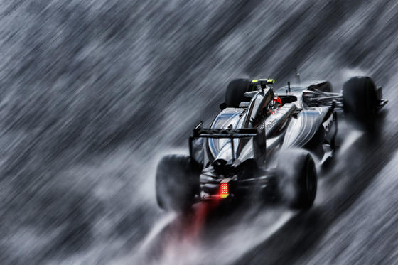SPA, BELGIUM - AUGUST 23: (EDITORS NOTE: THIS IMAGE HAS BEEN CREATED WITH THE USE OF DIGITAL FILTERS) Kevin Magnussen of Denmark and McLaren drives during qualifying ahead of the Belgian Grand Prix at Circuit de Spa-Francorchamps on August 23, 2014 in Spa, Belgium. (Photo by Dean Mouhtaropoulos/Getty Images)