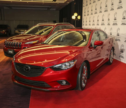 TORONTO, ON- FEBRUARY 13 - The AJAC Canadian Car and Truck of the year are the 2014 Mazda 6 and the 2014 Jeep Grande Cherokee in Toronto February 13, 2014. (David Cooper/Toronto Star via Getty Images)