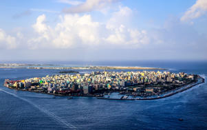 City of Male, capital of the Maldives.