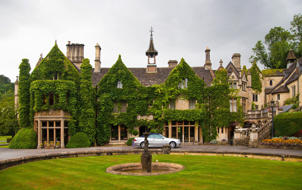 A beautiful mansion turned to a luxury hotel in England.