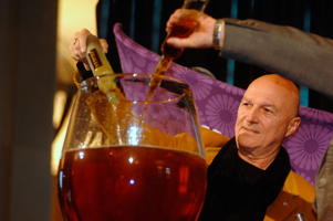 The Guinness World Record flute of ice wine is poured by Donald Ziraldo of Ziraldo Wines as part of the Niagara Icewine Festival in  Ontario.