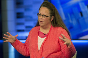Kentucky county clerk Kim Davis speaks during an interview on Fox News Channel's 'The Kelly File' in New York September 23, 2015.