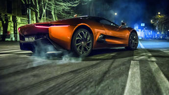Who says crime doesn't pay? Bond's arch nemesis in Spectre is a chap called Franz Oberhauser, who gets to enjoy the delights of the Jaguar C-X75.