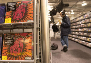 In this file photo, Music CDs can be seen for sale in a Best Buy in New York