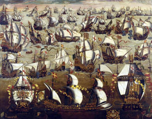 Defeat of the Spanish Armada in 1588