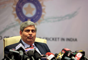 Board of Control for Cricket in India (BCCI) head Shashank Manohar speaks during a media conference in Mumbai, India, Saturday, July 3, 2010.