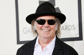 Neil Young arriving at the 56th annual Grammy Awards in Los Angeles. File photo.