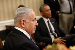 Obama and Netanyahu on October 1, 2014. (Win McNamee/Getty Images)