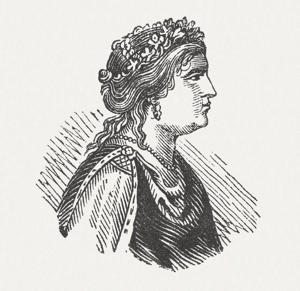 Helen of Troy's woodcut engraving, published in 1864.