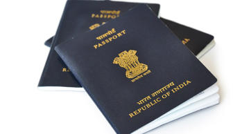 Indian passport.