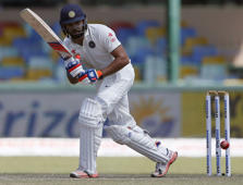 File: India's Rohit Sharma plays a shot during the fourth day of their third and final test cricket match against Sri Lanka in Colombo August 31, 2015.