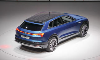 The styling of the e-tron quattro concept not only shows how the Audi look will evolve in the next few years, it's also extremely functional with excellent aerodynamics, achieving a very low 0.25 coefficient of drag. With three electric motors, performance should be strong.<br><strong>Future Plans?</strong> Look for the e-tron to go head to head with the Tesla Model X when it arrives in a few years.