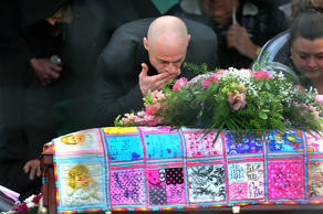 A funeral and burial service was held for Bella Bond, the toddler who became kno...