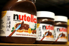 Jars of Nutella are displayed at a store on Aug. 18, 2014, in San Francisco.