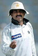 File: This picture taken 08 April 2004 shows Pakistani cricket team coach Javed Miandad before the start of a match in the second Test match between Pakistan and India in Lahore.