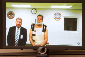 Colorado Springs Planned Parenthood shooting suspect Robert Dear, right, appears...