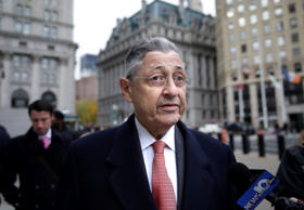 Former New York Assembly Speaker Sheldon Silver arrives at the courthouse in New...
