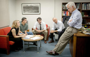 Rachel McAdams, Mark Ruffalo, Brian d'Arcy James, Michael Keaton, John Slattery - Spotlight 2015 movie