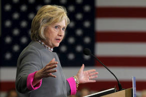 Democratic presidential candidate Hillary Clinton speaks about the mass shooting in San Bernadino, California, at a campaign stop on Dec. 3, 2015, at Southern New Hampshire University in Hooksett, N.H.