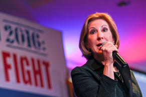 Republican presidential candidate Carly Fiorina speaks at the Practical Federalism Forum hosted by American Principles Project held at Southern New Hampshire University in Hooksett, N.H., Saturday, Oct. 3, 2015.