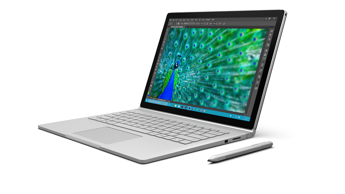 Surface Book is individually calibrated for true-to-life color, with extremely high contrast and low glare.