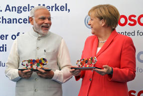 PM Narendra Modi hard-sells India to Germans
