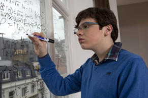 Young man with Asperger's syndrome