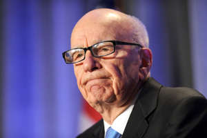 "In this Oct. 14, 2011 file photo, News Corp. CEO Rupert Murdoch delivers a keynote address at the National Summit on Education Reform in San Francisco. On Thursday Murdoch apologized for his controversial tweet a night earlier in which he said America could use a ""real"" black person in the Oval Office."