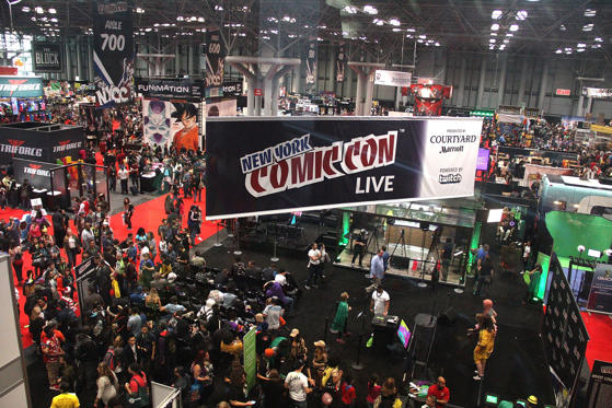 Slide 1 of 69: NEW YORK, NY - OCTOBER 08: A general view of atmosphere at New York Comic-Con 2015 at The Jacob K. Javits Convention Center on October 8, 2015 in New York City.