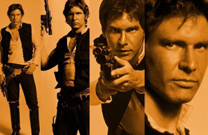 Harrison Ford as Han Solo in Star Wars saga.