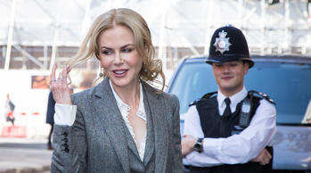 Nicole Kidman arrives at the Women In The World Summit in London, Friday, Oct. 9...