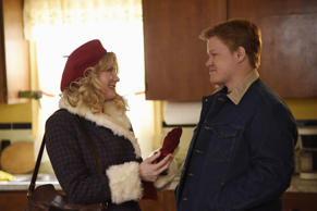 "FARGO -- ""Waiting for Dutch"" -- Episode 201 (Airs October 12, 10:00 pm e/p) Pictured: (l-r) Kirsten Dunst as Peggy Blumquist, Jesse Plemons as Ed Blumquist.  CR: Chris Large/FX"