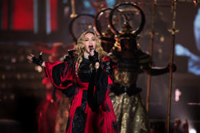Madonna performs at the Air Canada Centre in Toronto during her Rebel Heart Tour, Oct. 5, 2015.