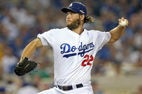 Los Angeles Dodgers starting pitcher Clayton Kershaw delivers to the plate against the New York Mets in game one of their National League Division Series playoff matchup on Oct. 9, in Los Angeles.